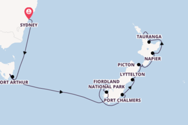 15 day expedition to Auckland from Sydney