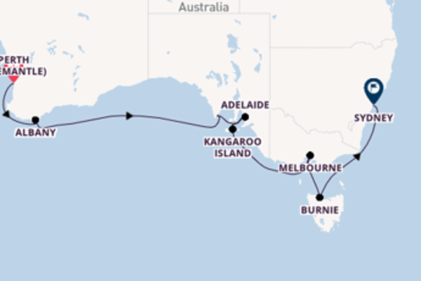 12 day cruise to Sydney from Perth (Fremantle)