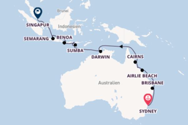 24 Tage Australien und Asien