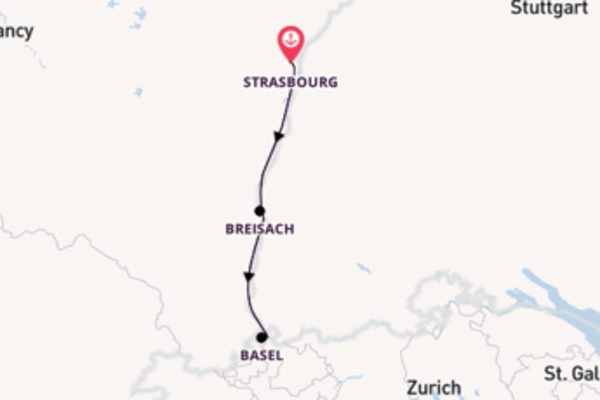 Cruising from Strasbourg via Breisach
