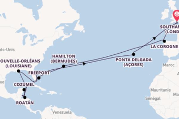 Superbe croisière de 36 jours avec P&O Cruises