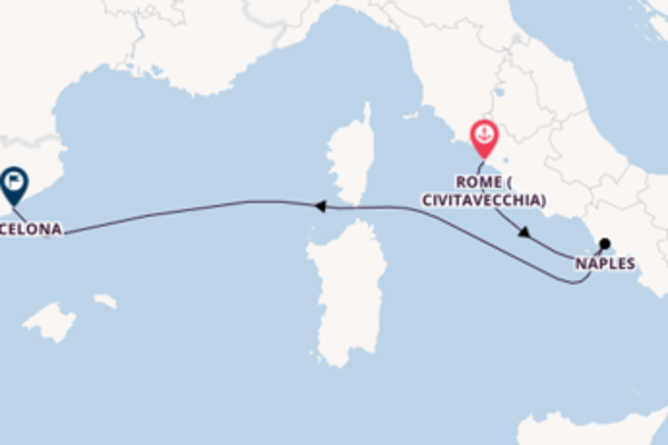 Trip with the Harmony of the Seas to Barcelona from Rome (Civitavecchia)