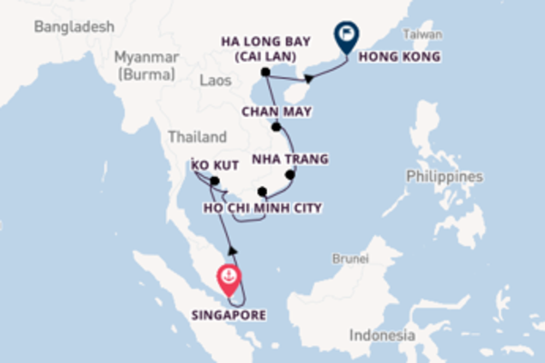 17 day cruise with the Silver Spirit to Hong Kong