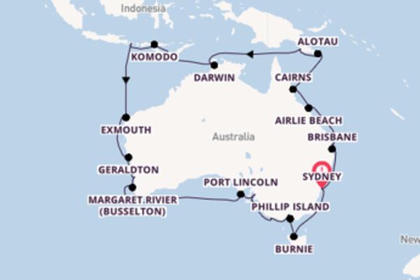 36-daagse cruise naar Airlie Beach