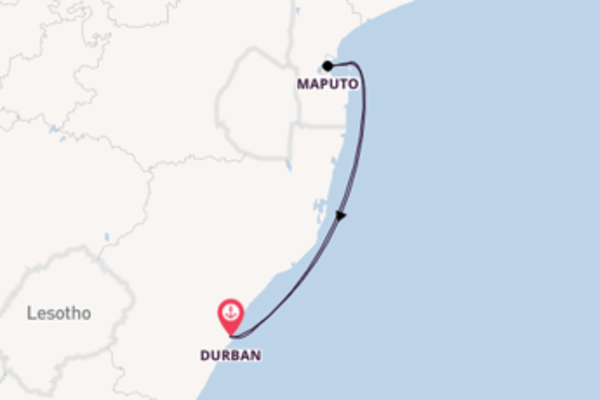 Expedition from Durban with the MSC Opera