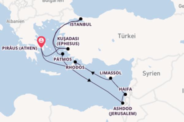Von Piräus (Athen) über Pátmos in 11 Tagen
