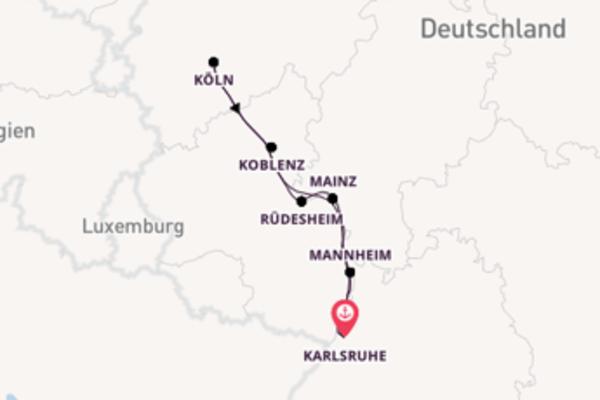 Karlsruhe, Deutschland und Köln, Deutschland erkunden