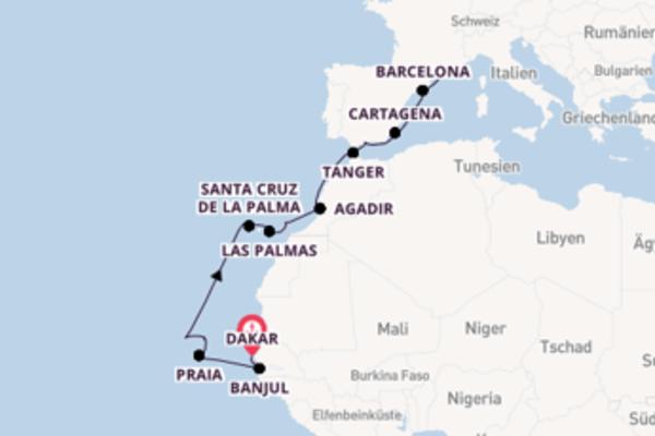 Sonnige Aussichten zwischen Senegal und Spanien