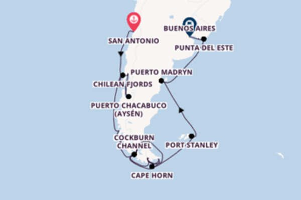 Cruising to Buenos Aires from San Antonio