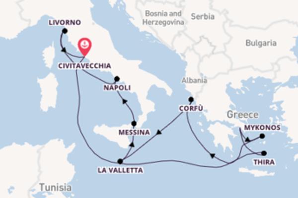 Affascinante viaggio verso Civitavecchia