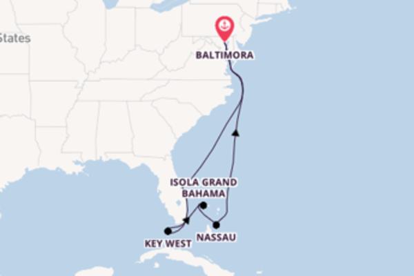 A bordo di Enchantment of the Seas fino a Baltimora