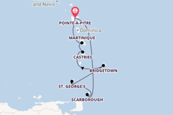 Cruise met Costa Cruises naar het sensationele Pointe-à-Pitre