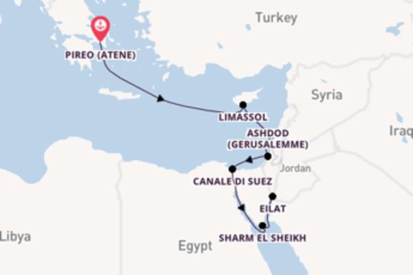 Fare rotta verso Canale di Suez a bordo di Silver Shadow