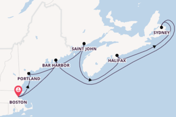 Magnificent cruise from Boston with Holland America Line