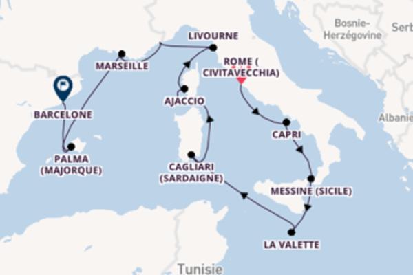 Messine (Sicile), depuis Rome (Civitavecchia) à bord du bateau Riviera