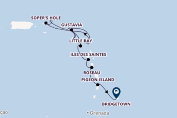 Philipsburg, St. Maarten, Soper's Hole, Tortola, Britische Jungferninseln und Bridgetown, Barbados entdecken