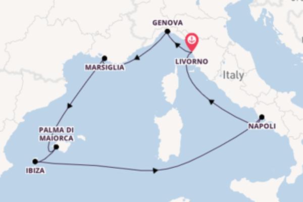 Fiabesca crociera verso Livorno