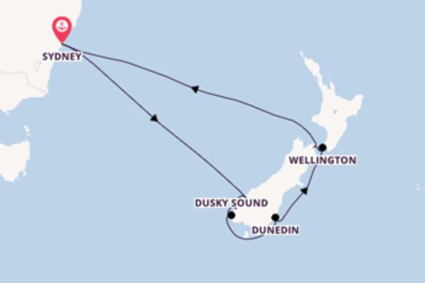 Unieke cruise naar Nieuw-Zeeland