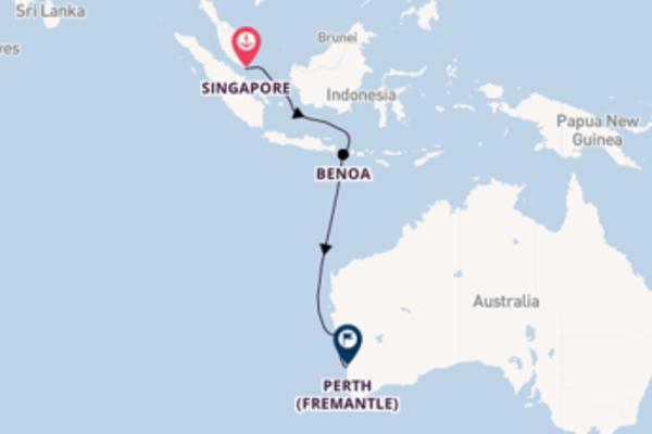 Lasciati incantare da Singapore, Geraldton e Perth (Fremantle)