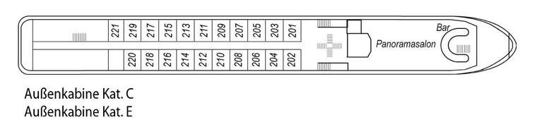 Saxonia Deck 2 Oberdeck