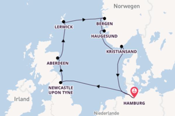 Erkunden Sie Lerwick ab Hamburg