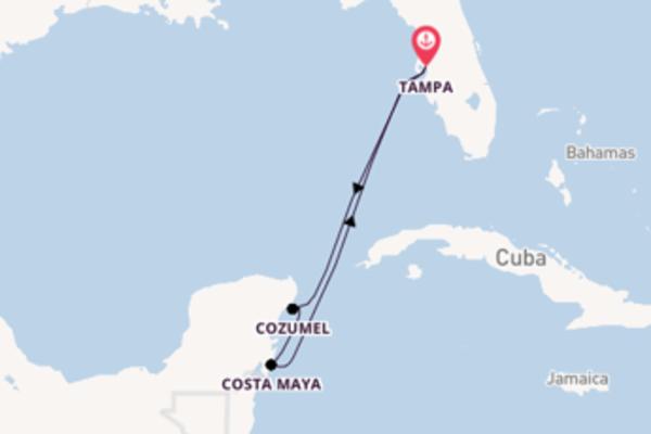 Sailing from Tampa, Florida via Cozumel