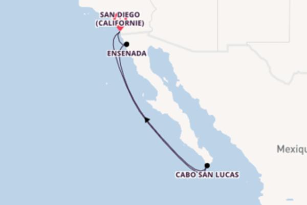 Cabo San Lucas, depuis San Diego (Californie) à bord du bateau Norwegian Jewel
