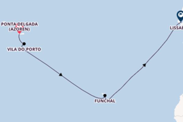Erkunden Sie 8 Tage Vila do Porto und Lissabon