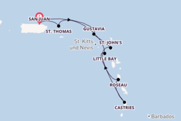 8-tägige Kreuzfahrt bis San Juan