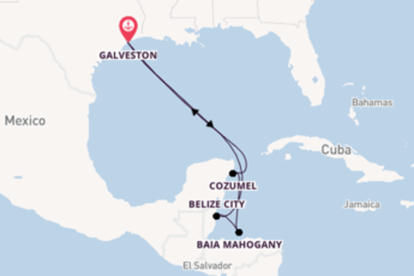 8 giorni di crociera fino a Galveston