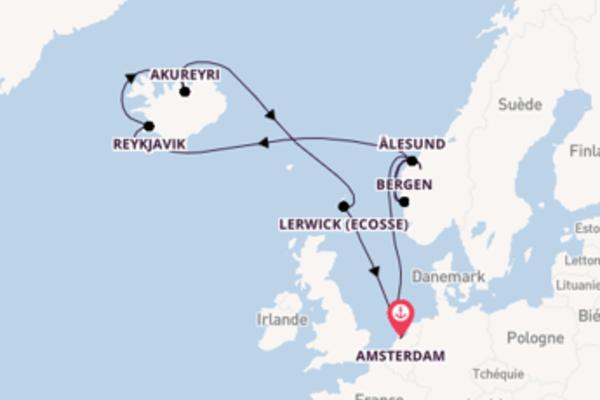 Lerwick, depuis Amsterdam à bord du bateau Brilliance of the Seas