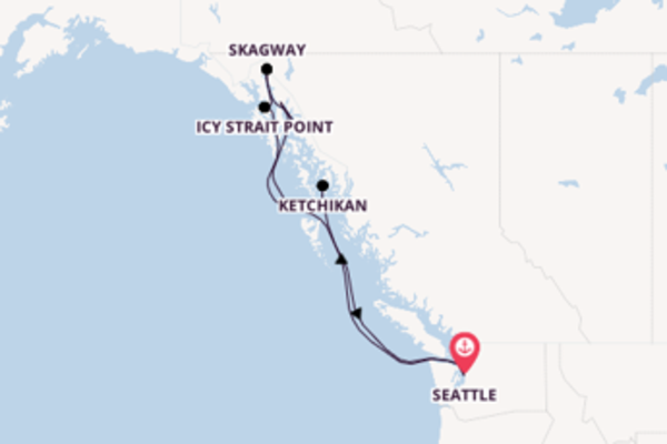 Seattle und Skagway genießen