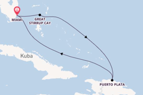 Einmalige Kreuzfahrt über Great Stirrup Cay ab Miami