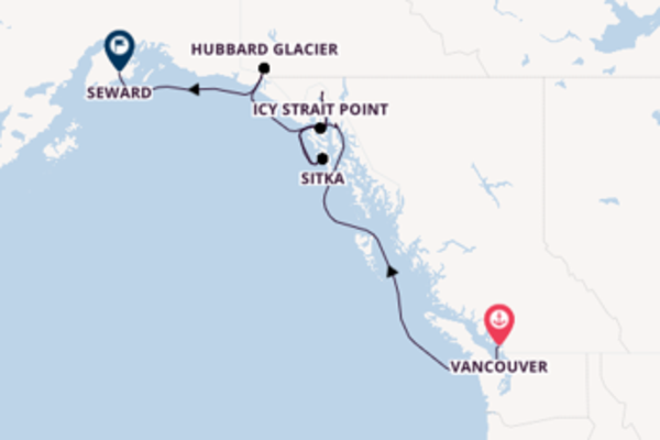Journey with the Radiance of the Seas to Seward from Vancouver