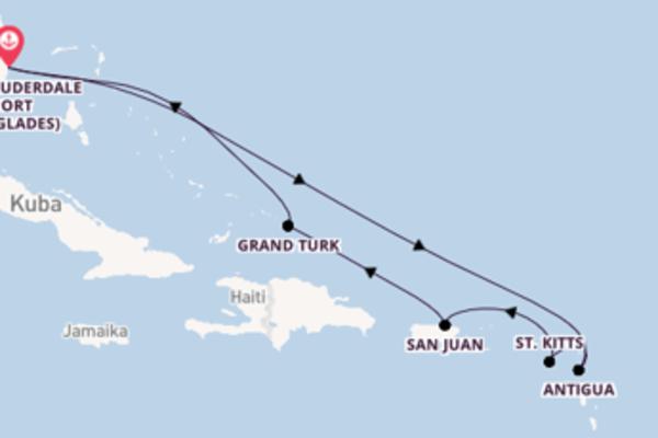 9-tägige Kreuzfahrt bis Fort Lauderdale