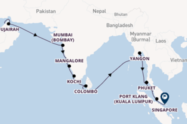 Cruising with Regent Seven Seas Cruises from Dubai to Singapore