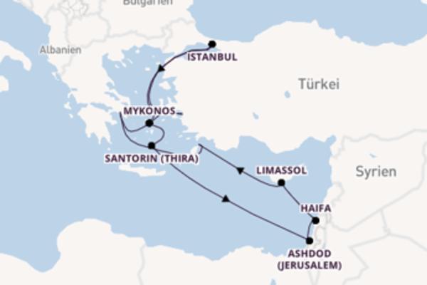 11 Tage Mittelmeer Kreuzfahrt
