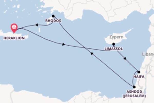 8-tägige Kreuzfahrt bis Heraklion