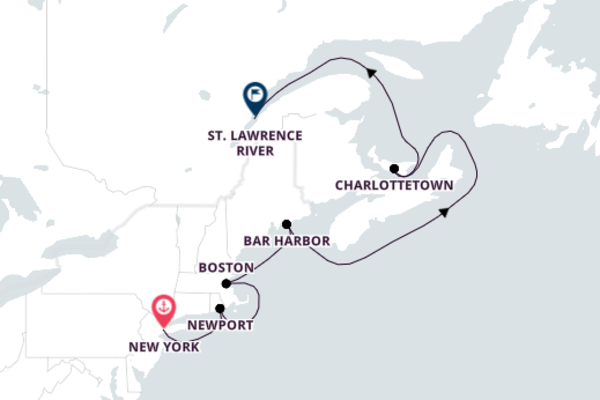 Magnificent Cruise from New York to Saint Lawrence River