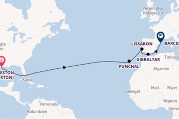 Erkunden Sie 17 Tage Funchal und Barcelona