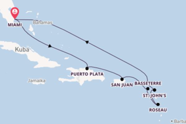 Spannende Reise über San Juan in 11 Tagen