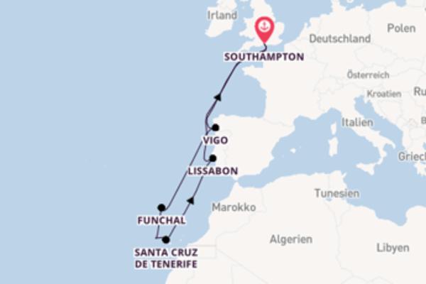 Wunderschöne Reise ab Southampton