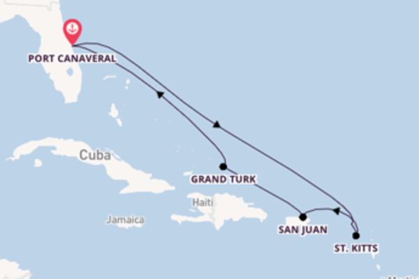Cruise in 9 dagen naar Port Canaveral met Carnival Cruise Line