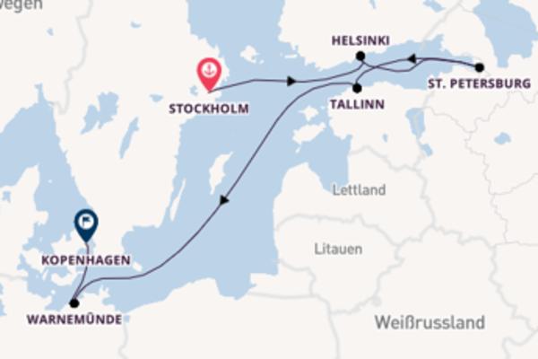 Stockholm, Tallinn und Kopenhagen genießen