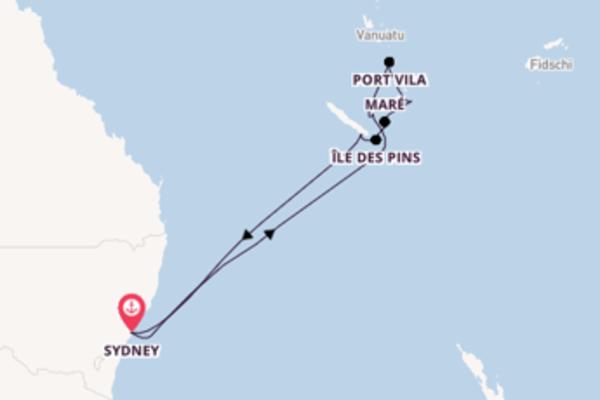 12-tägige Kreuzfahrt ab Sydney