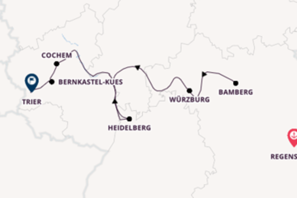 Cruising from Regensburg to Trier