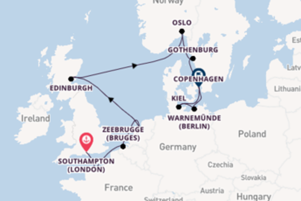 12 day expedition from Southampton (London)