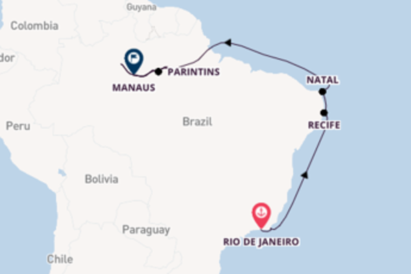 Voyage with Seabourn from Rio de Janeiro