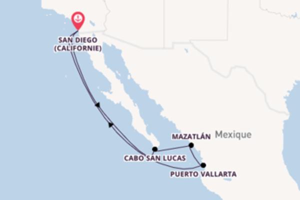 Croisière de 8 jours depuis San Diego (Californie) avec Holland America Line