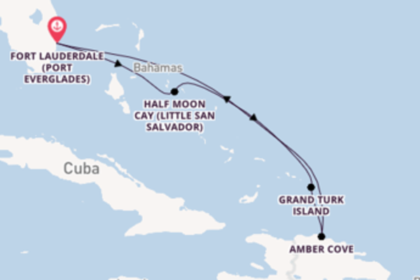 Spectacular journey from Fort Lauderdale (Port Everglades) with Carnival Cruise Lines
